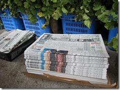 大根3新聞紙