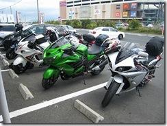 オートバイ前から撮影