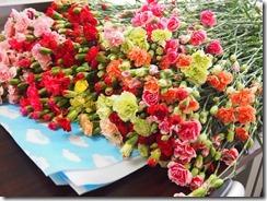 母の日届いた花
